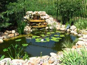 Koi Pond Backyard Laghetti Artificiali Arredo Giardino