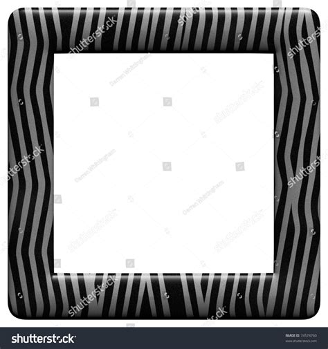 zebra pattern frame illustrated frame zebra pattern stock illustration