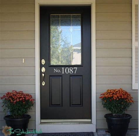 Front Door Number No With Your House Numbers Front Door Address Vinyl Decals Stickers 9