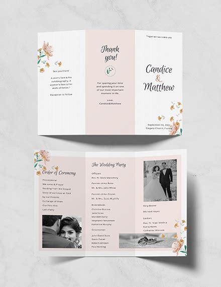 Free Baby Shower Program Template Download 31 Program Templates In Psd Illustrator Indesign Free Tri Fold Wedding Brochure Templates