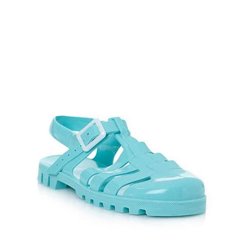 Sepatu Sandal Flat Jelly Juju Lancip juju turquoise flat jelly sandals at debenhams