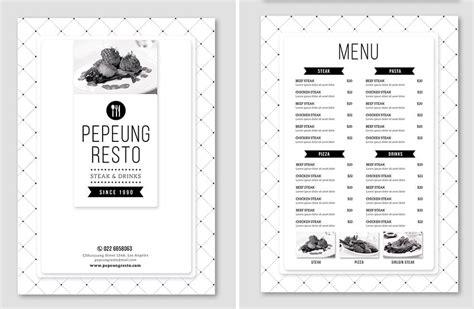 60 Time Saving Print Templates For Adobe Indesign Photoshop Minimal Menu Template