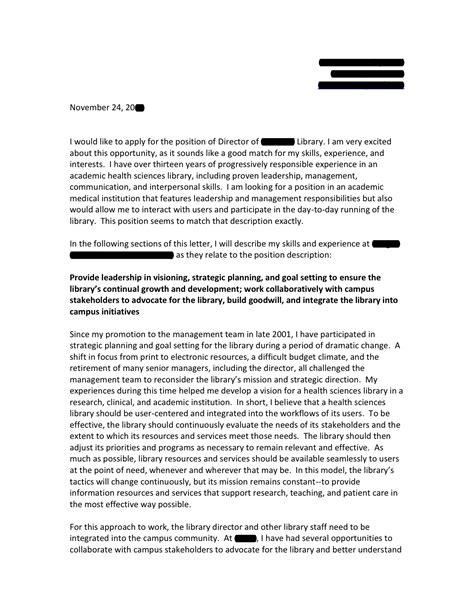 Cover Letter Research Director Biomedical Research Library Director Cover Letter Open Cover Letters