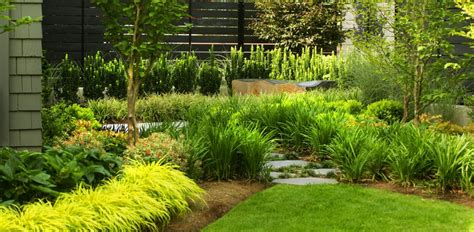 a modern sophisticated garden was inspired by the
