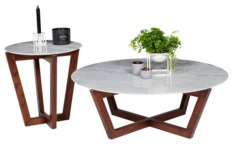 Marble Coffee Table Australia Italian Carrara Marble And American Walnut Furniture Contemporary Coffee Tables Sydney