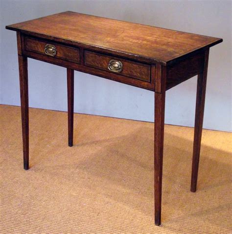 small side table with drawer uk georgian oak two drawer side table antique tables uk