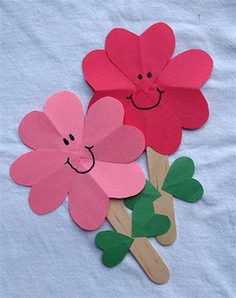 paper flowers craft for popsicle sticks crafts for 30 creative diy