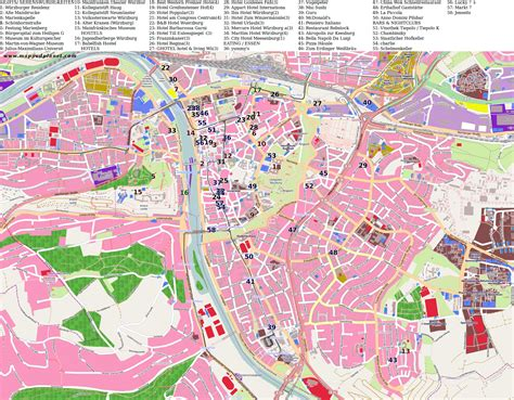 city maps of city maps w 252 rzburg