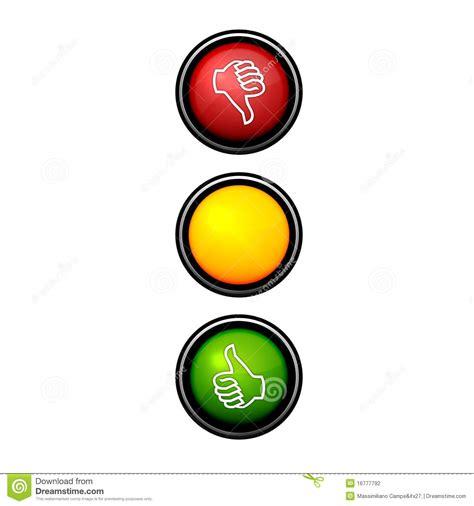 clipart mano semaforo della mano illustrazione di stock illustrazione