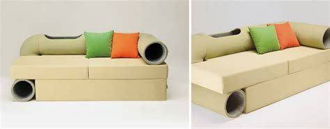 couch with cat tunnel 25 awesome furniture design ideas for cat lovers bored panda