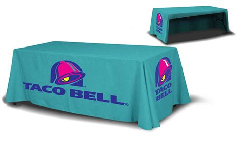 trade show table throw table throw with dye sub print trade show accessories