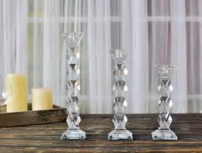 diamond cut crystal candlestick for wedding party 20 dreamy boho room decor ideas