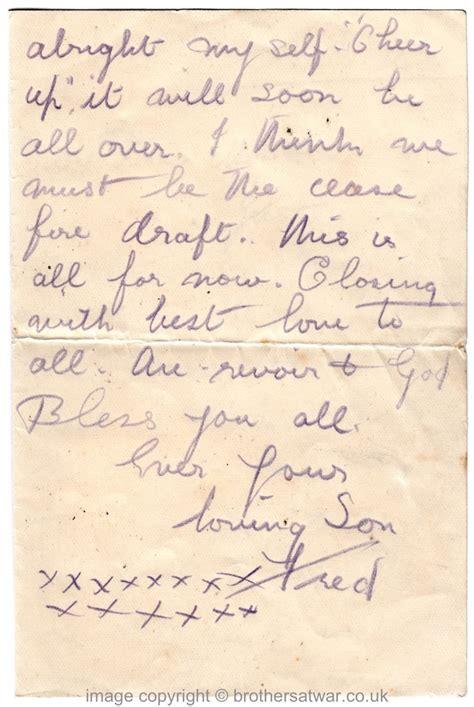 Letter Closing Luck Fred Horsnell Letters June 1916