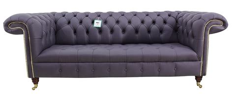 purple leather chesterfield sofa chesterfield regency 3 seater sofa amethyst purple leather