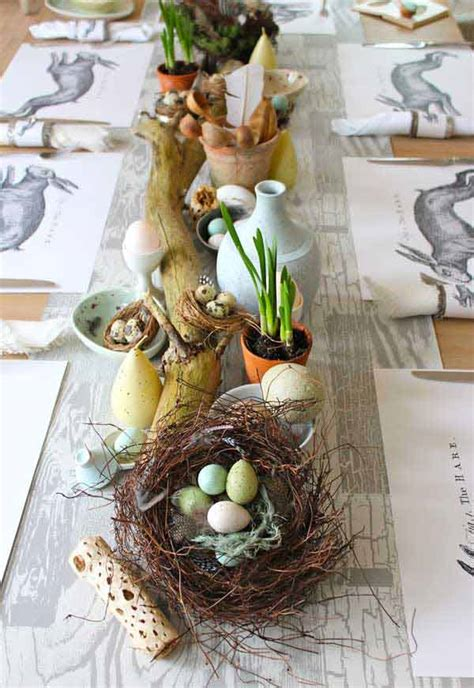 nesting place diy home decor blogs 30 creative easy diy tablescapes ideas for easter