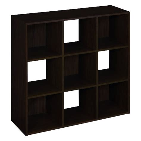 Closetmaid Cubeicals Espresso closetmaid 8937 cubeicals 9 cube organizer espresso 715877327760 toolfanatic