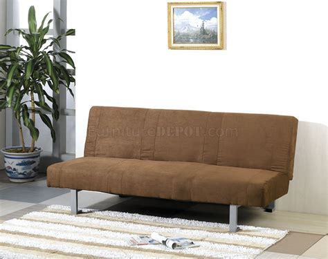 micro suede couches chocolate micro suede contemporary sofa sleeper w canister