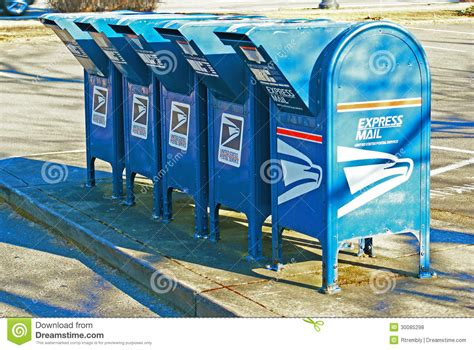 Post Office Drop Box by Row Of Us Mail Drop Boxes Editorial Stock Photo Image