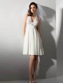 looking amazing with short halter wedding dress wedwebtalks