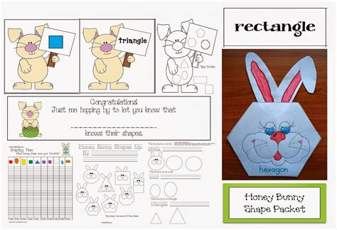 2d shape pattern game classroom freebies hop into spring bunny shape review packet