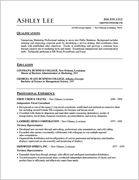 Free Sle Resumes For Customer Service Resume Templates Word Customer Service Word Templates