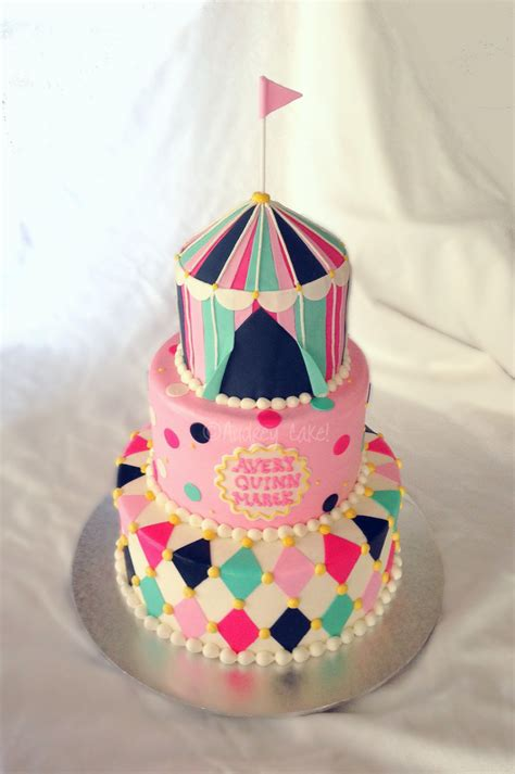 Circus Themed Baby Shower Cakes by Vintage Circus Baby Shower Cake This Joyful Theme