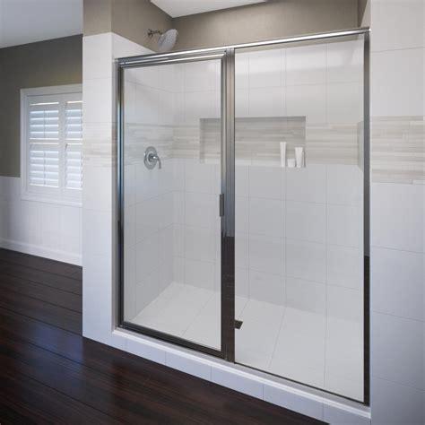 Shower Doors Basco Sterling Standard 52 In X 56 7 16 In Framed Sliding Tub Shower Door In Silver 690b 52s The