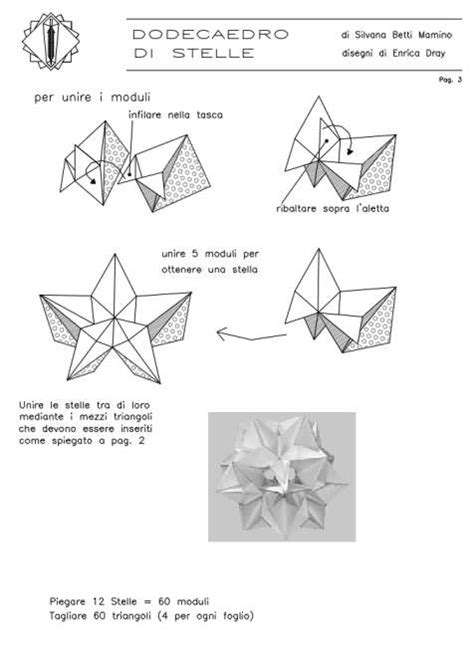 Free Origami Diagrams - modular free diagrams instructing you how to fold unit