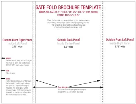 Template For Gatefold Card by Gate Fold Brochure Template 15 Free Pdf Psd Ai