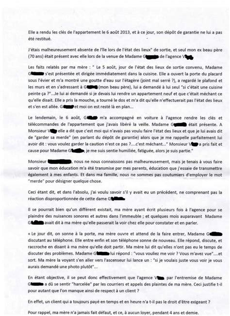 Non Restitution De Caution 1911 by Lettre Mise En Demeure Non Restitution Caution Document