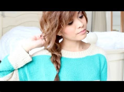 how to do a messy side braid easy messy side braid tutorial youtube