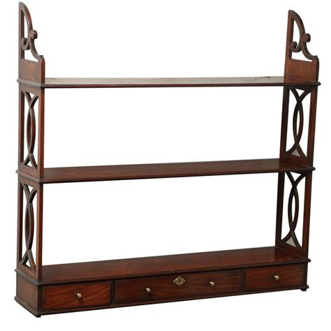 Chippendale Wall Shelf by A Set Of Chippendale Period Mahogany Hanging