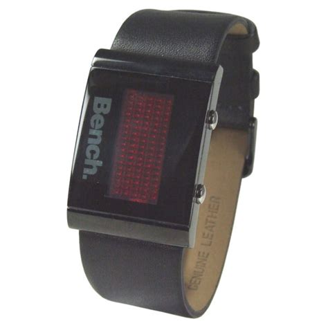 bench digital watch bench men s black strap digital watch clothing thehut com