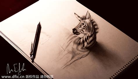 3d Sketches On Paper by New Views Amazing 3d Pencil Drawings 5 China Photos