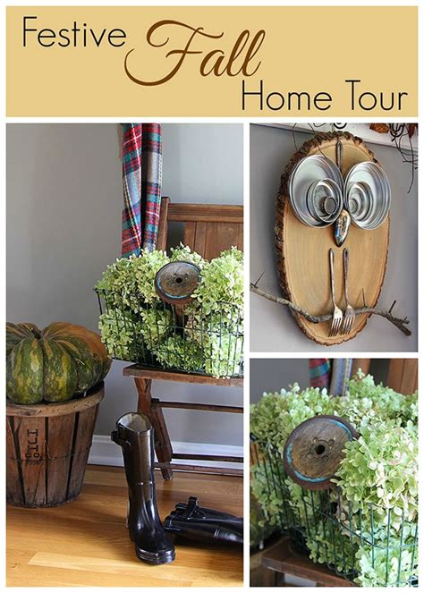 fall decor in the entryway and more house of hawthornes
