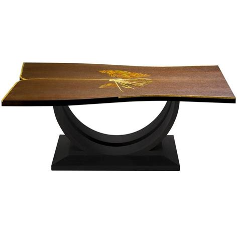 Exclusive Coffee Tables Exclusive Wood And Coffee Table For Sale At 1stdibs