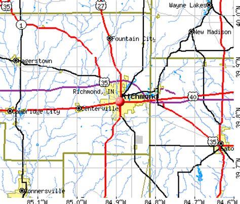 Richmond In richmond indiana in 47374 profile population maps