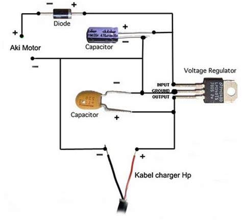 cara membuat powerbank menggunakan aki motor elektronika rangkaian charger hp di aki sepeda motor