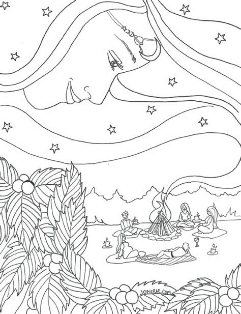 free coloring pages of pagan yule