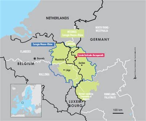 germany netherlands border map espaces transfrontaliers org border factsheets