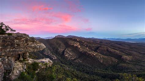 Balconies grampians national park mountain range in australia