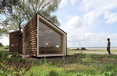 cabin design olgga s portable log cabin conceals a sleek modern