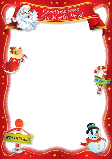 free blank letter from santa template new calendar