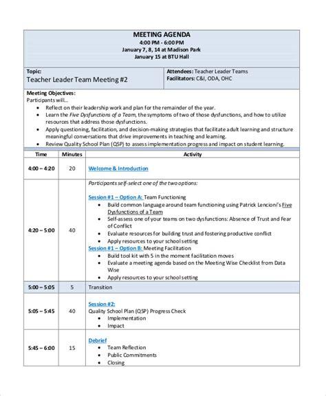 team meeting agenda 54 meeting agenda exles