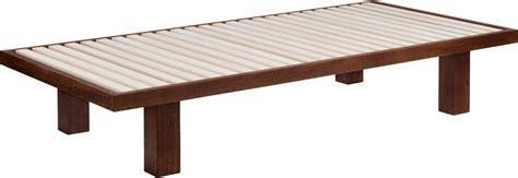 futon 100x200 japanische futon bett 100x200 braun lackiert the