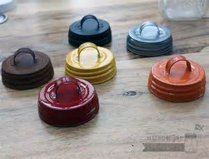 vintage reproduction lids with handles for jars