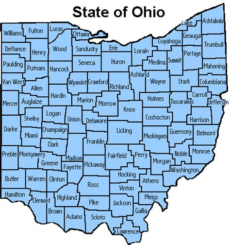 Ohio Map With Counties by Gallery For Gt Ohio