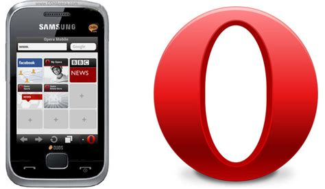 opera mini opera mini now comes pre installed on four samsung feature