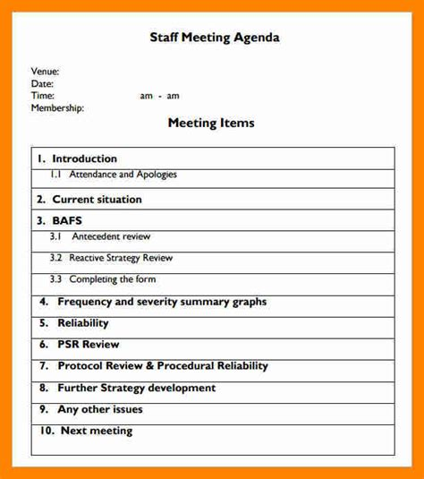 monthly meeting calendar template 7 monthly meeting agenda resume sections