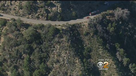 crash victim located  angeles crest highway  cbs news crew hears yells   cbs